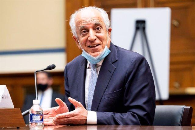 Archivo - Zalmay Khalilzad, en una comparecencia en la Cámara de Representantes de Estados Unidos