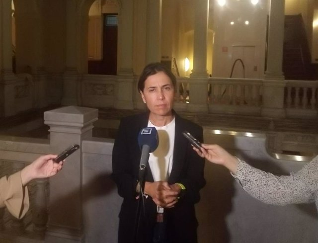 Archivo - La portavoz del Grupo Parlamentario Socialista en la Junta General, Dolores Carcedo.