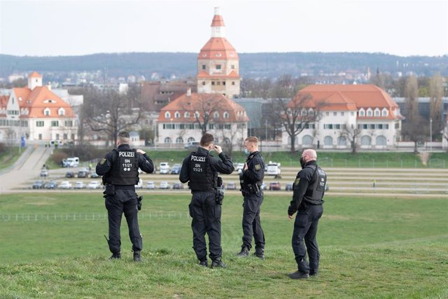Un grupo de agentes de la Policía alemana.