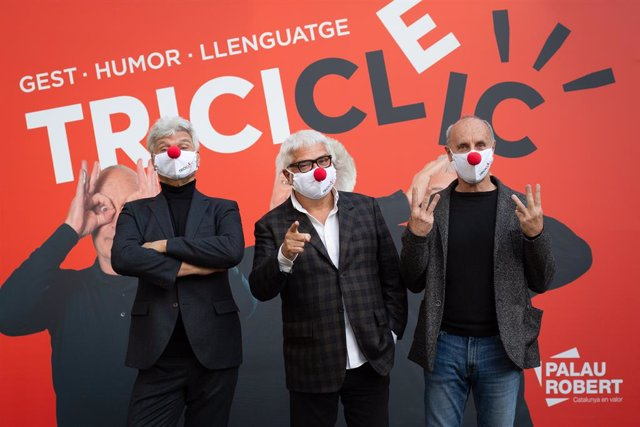 Els membres del Tricicle Carles Sans, Joan Gràcia i Paco Mir