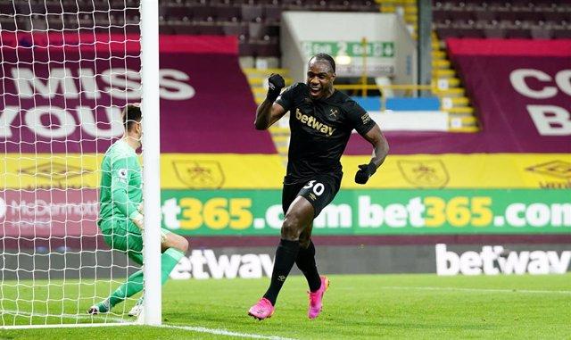 Michail Antonio celebra un gol del West Ham