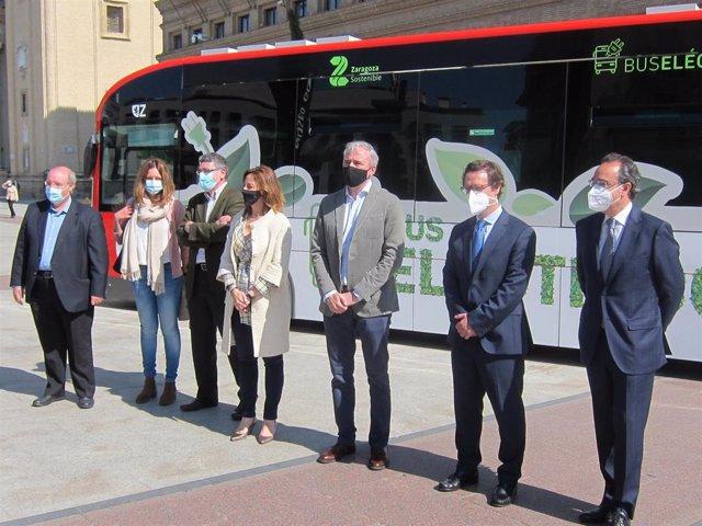 Presentación de un nuevo autobús eléctrico 100%
