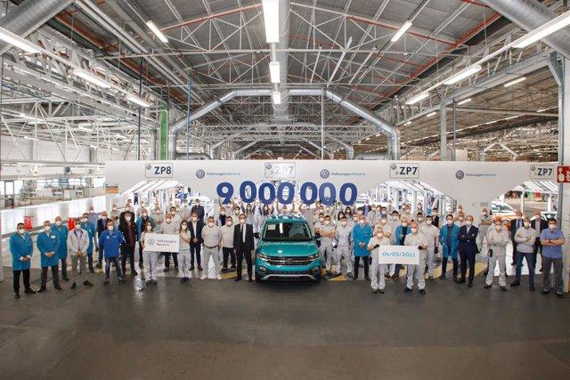 La fábrica de Volkswagen Navarra fabrica su coche 9 millones.
