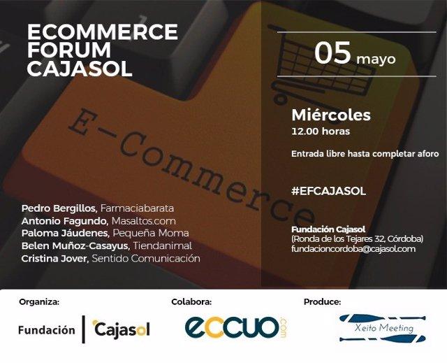 Cartel del foro sobre 'e-commerce' organizado por la Fundación Cajasol.