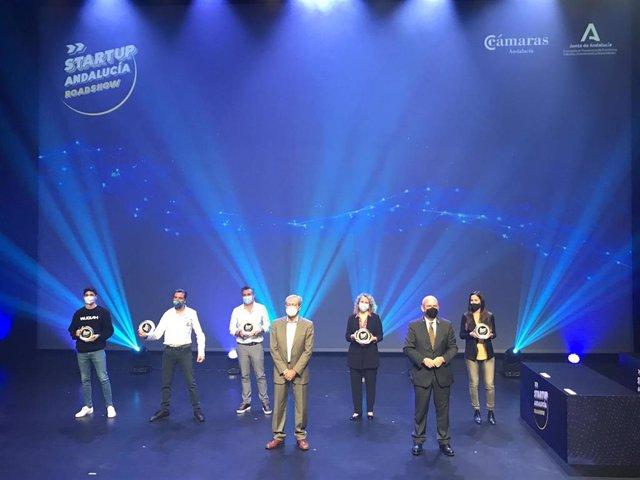 Imagen de archivo de los ganadores de la primera edición de la liga 'Startup Andalucía Roadshow'.