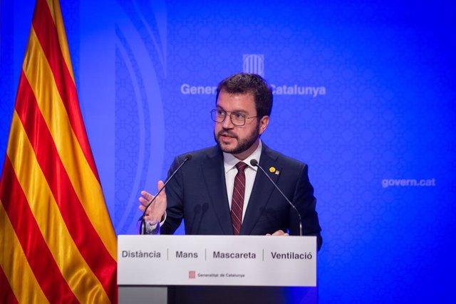 Arxiu - El vicepresident de la Generalitat en funcions, Pere Aragonès.