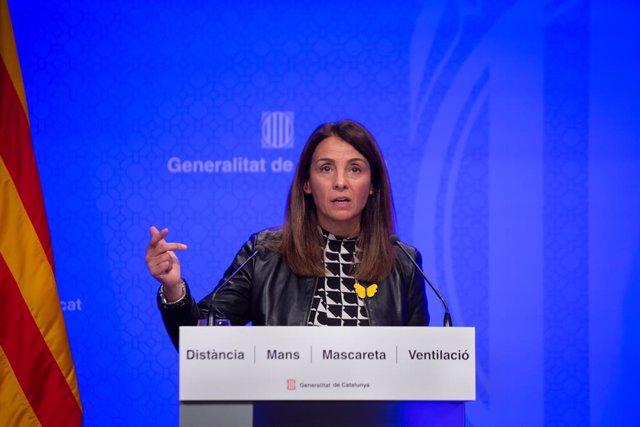 Arxiu - La consellera de la Presidència i portaveu del Govern, Meritxell Budó.