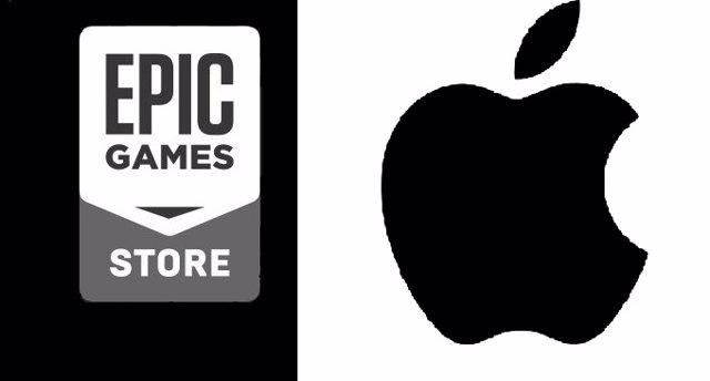 Logos de Epic Games y Apple.