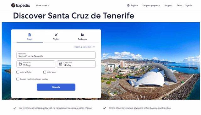 Santa Cruz se promociona en la web de Expedia