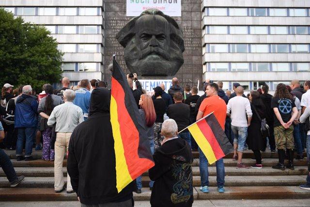 Archivo - Manifestación de la  ultraderecha en Chemnitz