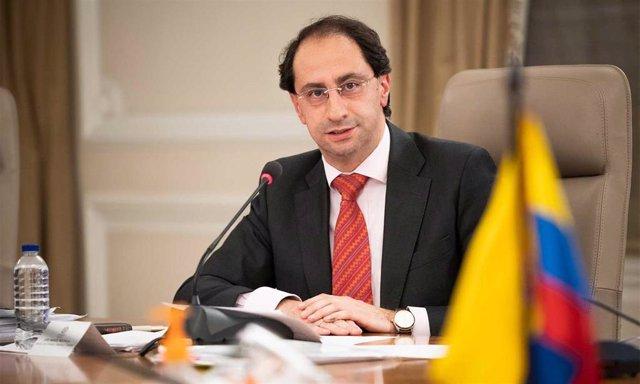 Archivo - El ministro de Hacienda y Crédito Público de Colombia, José Manuel Restrepo