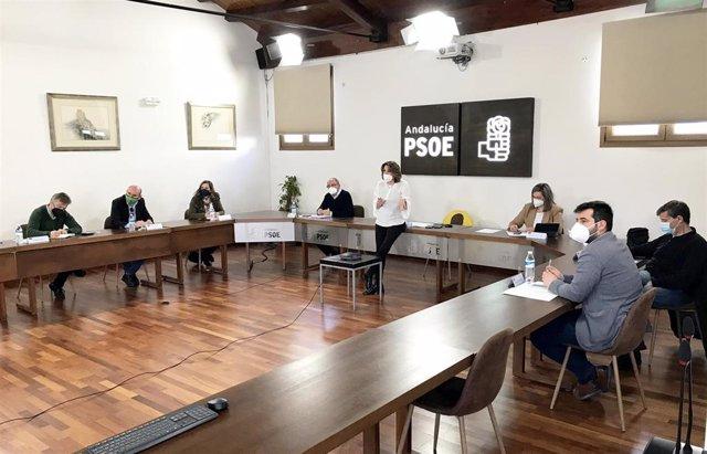 Archivo - Reunión de la Ejecutiva Regional del PSOE-A, encabezada por la secretaria general, Susana Díaz, en una foto de archivo.