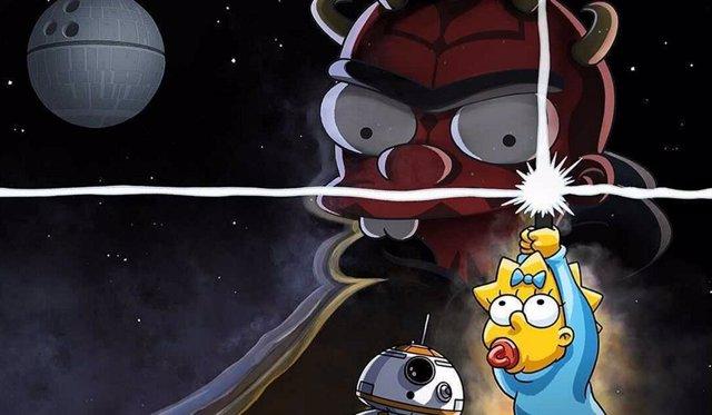 Archivo - Disney+ celebra el Día de Star Wars con un crossover con Los Simpson
