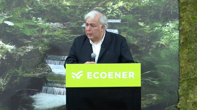 El presidente de Ecoener, Luis de Valdivia, en la salida a Bolsa del grupo