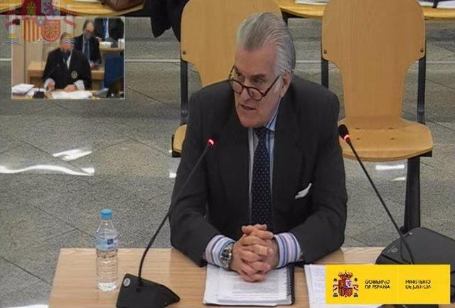 Archivo - Luis Bárcenas declara en el juicio de la caja 'b' del PP en la Audiencia Nacional