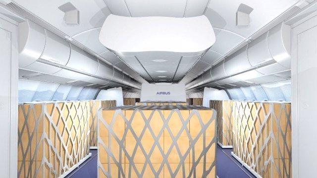 Carga en la cabina de un avión.