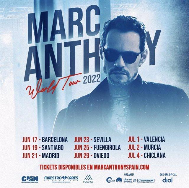 Cartell de la gira de Marc Anthony de 2022
