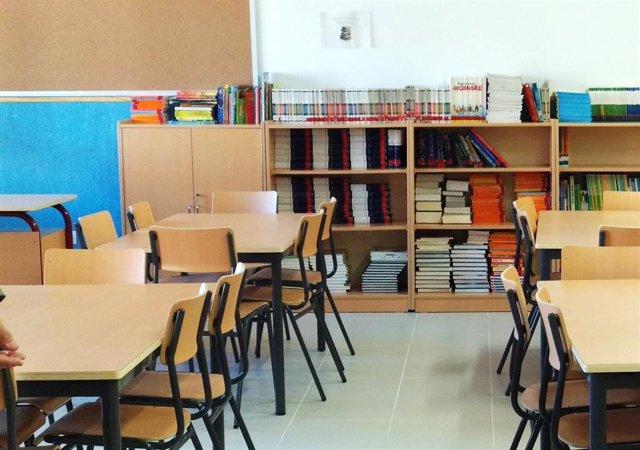 Archivo - Aula de un colegio.- Archivo