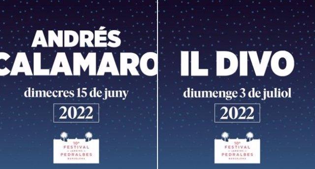 El Festival Jardins de Pedralbes ajorna els concerts d'Il Divo i Andrés Calamaro fins al 2022.