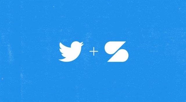 Logos de Twitter y Scroll.