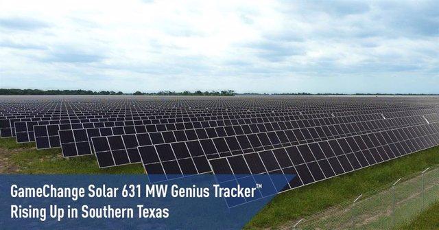 GameChange Solar 631 MW Genius Tracker Rising Up in Southern Texas
