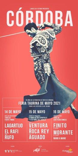 Archivo - Cartel de festejos de la Feria Taurina de Cordoba 2021.