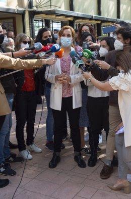 La candidata de Més Madrid a la Presidència de la Comunitat de Madrid, Mónica García