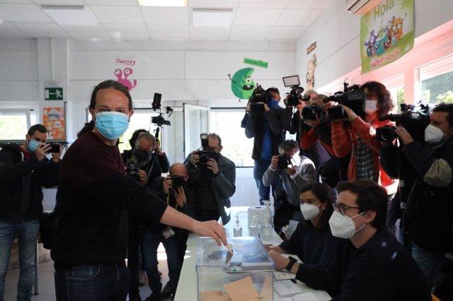 El candidat d'Unides Podem a la Presidència de la Comunitat de Madrid, Pablo Iglesias