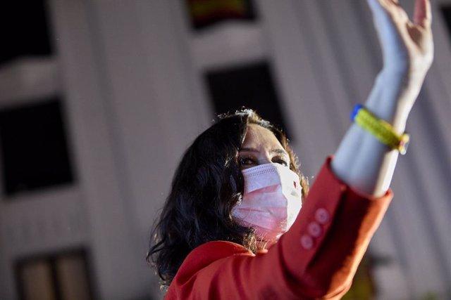 La presidenta de la Comunitat de Madrid i candidata a la reelecció pel PP, Isabel Díaz Ayuso
