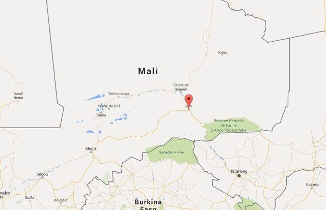Archivo - Arxiu - Ubicació de la ciutat de Gao, a Mali.