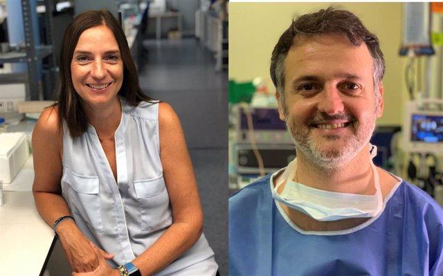 Los coautores del estudio sobre marcadores tumorales de cáncer de cabeza y cuello, Sonia Fernández y Xavier Avilés