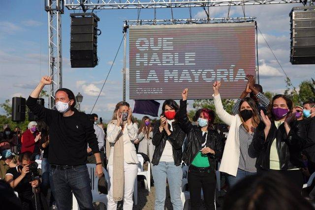 Arxiu - El candidat d'Unides Podem a la presidència de la Comunitat de Madrid i secretari general de Podem, Pablo Iglesias, en un acte de campanya.