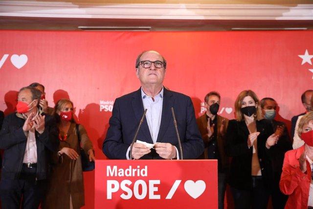 El candidato del PSOE a la Presidencia de la Comunidad de Madrid, Angel Gabilondo