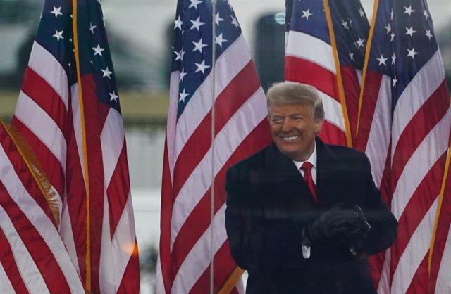Archivo - 06 January 2021, US, Washington: US President Donald Trump holds a rally protesting the 2020 election results, near the White House in Washington. Photo: Bryan Smith/ZUMA Wire/dpa
