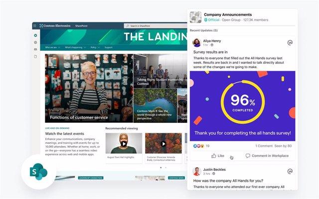 Plugin de Workplace para compartir contenido en SharePoint de Microsoft