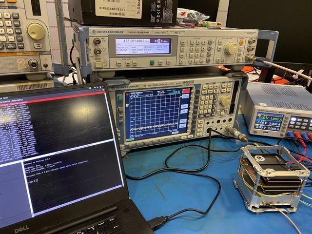 Càrrega útil que ha dissenyat la UPC en una missió satel·litària dels Emirats Àrabs Units.