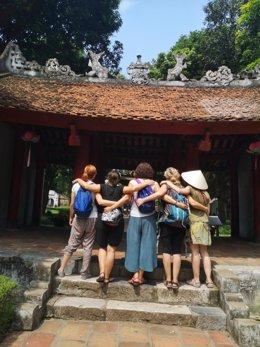 Viajeras en un viaje por Vietnam.