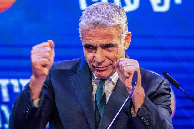 Archivo - El líder del partido opositor israelí Yesh Atid, Yair Lapid