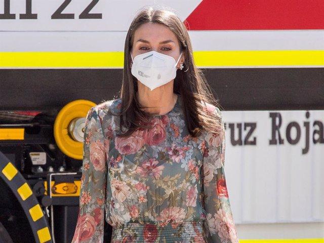 La Reina ha retomado su agenda presidiendo el acto por el Día Mundial de la Cruz Roja y de la Media Luna