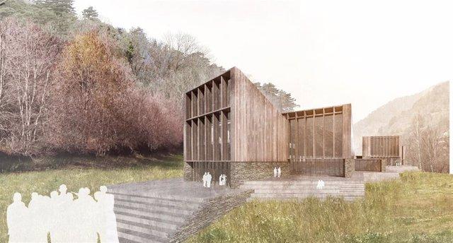Projecció del Centre d'Investigació en Immunologia que es vol construir mitjançant l'acord de Grífols amb el Govern d'Andorra.