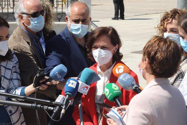 Arxiu - La vicepresidenta primera del Govern espanyol, Carmen Calvo.