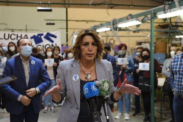 La secretaria general del PSOE de Andalucía, Susana Díaz, en una foto de archivo.