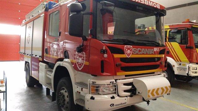 Archivo - Camión de bomberos.
