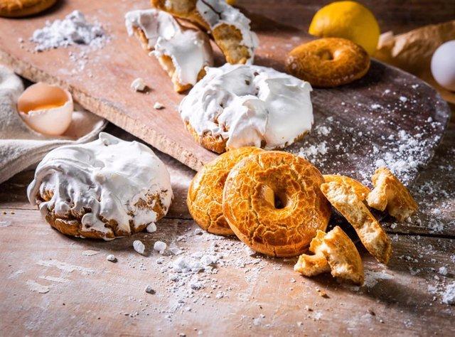Las rosquillas son los dulces más típicos de San Isidro