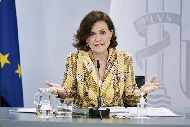 La vicepresidenta primera, Carmen Calvo
