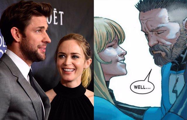 Archivo - Marvel hace otra oferta a John Krasinski y Emily Blunt para protagonizar Los 4 Fantásticos
