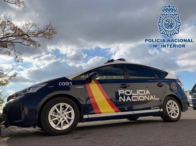 Cotxe patrulla de la Policia Nacional