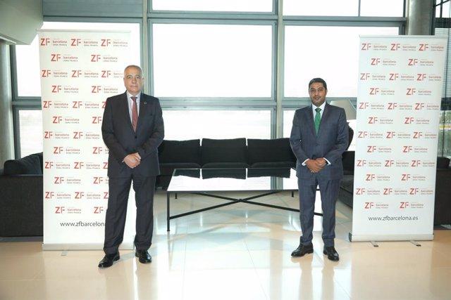 El cònsol general de Qatar visita la seu del Consorci de la Zona Franca de Barcelona.