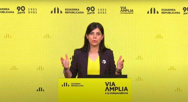 Arxiu - La secretària general adjunta i portaveu d'ERC, Marta Vilalta.