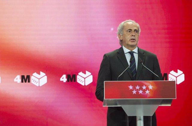Arxiu - El conseller de Sanitat en funcions de la Comunitat de Madrid, Enrique Ruiz Escudero.